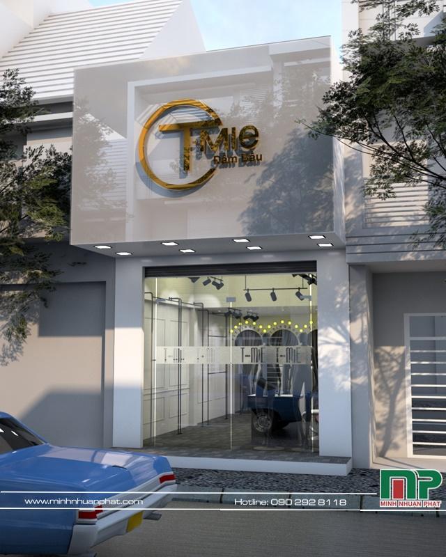 Hình ảnh thiết kế shop T -Mie đầm bầu tại quận 10 TPHCM