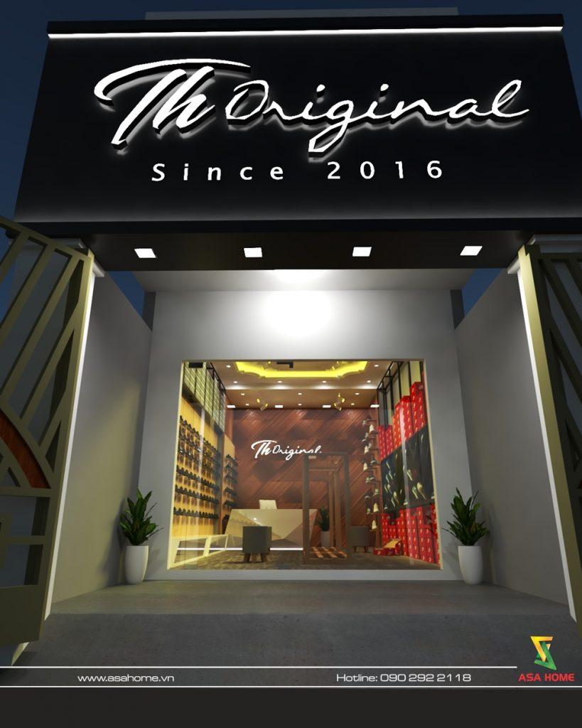 Thiết kế bảng hiệu shop giày Th Original
