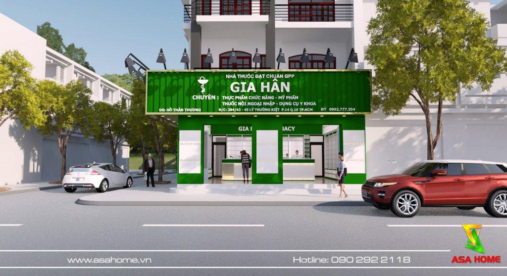 Bảng hiệu nhà thuốc do Minh Nhuận Phát thực hiện
