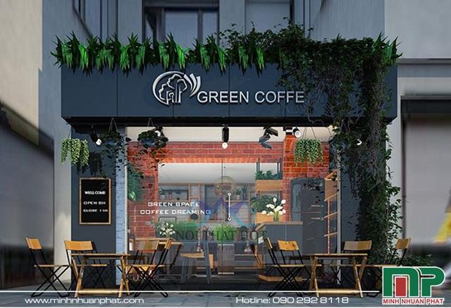 Mẫu biển hiệu quán Cafe mặt dựng Alu mang lại sự hiện đại, sang trọng và đẳng cấp lại tinh tế cho quán
